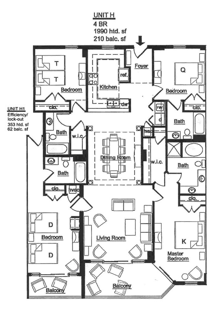 The Island Floorplans Myrtle Beach Oceanfront Condos