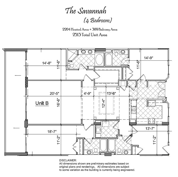 North beach towers floor plans myrtle beach oceanfront for Floor plans dimensions