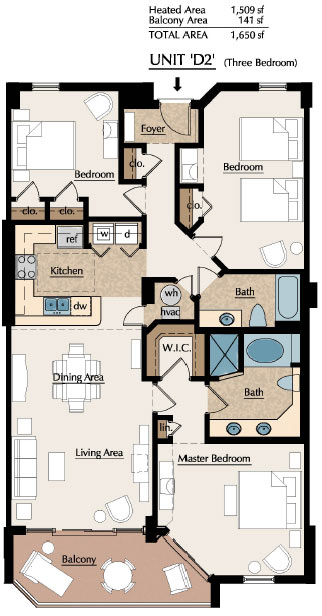 Southwind floorplans myrtle beach oceanfront condos for 4 unit condo plans