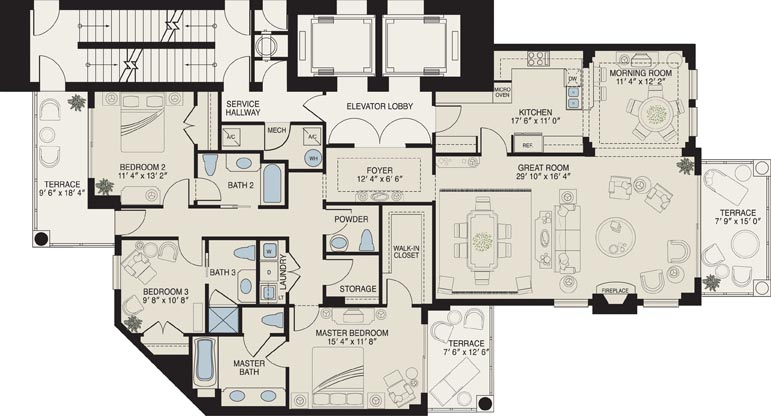 Vista Del Mar Floor Plans Myrtle Beach Oceanfront Condos